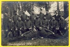 "cpa Carte Photo WW1 ""CAMPAGNE de 1914"" Soldats du 22e Régiment Poilus Camp"