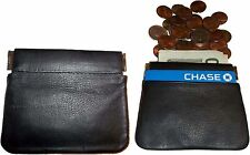 New Leather Squeeze change purse metal framed coin holder hard queeze coin case