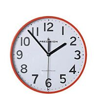 Precision Radio Controlled Wall Clock Red RRP 14.99 lot GD