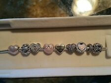 New Sterling Silver Authentic Pandora charms and Pandora bracelet Retail $575