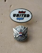 United Airlines &  long Service pin badges  USA Airways maybe silver
