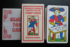 1975 Tarot of Marseille Rigel Press Authentic English Fortune Telling Cards MINT