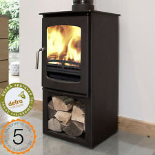 Ecosy+ Curve 5kw DEFRA with stand Multifuel Woodburning Stove Stove Wood Burning