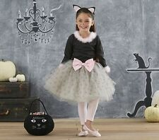 POTTERY BARN KITTY CAT TUTU PINK GRAY HALLOWEEN COSTUME 4-6  NEW