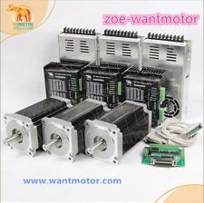 New sale!EU free!Wantai3Axis Nema34 Stepper Motor 1600oz-in 6A+Driver80V CNC KIT