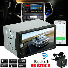 "7"" Double 2 DIN Car MP5 MP3 Player Bluetooth Touch Screen Stereo Radio HD Camera"