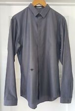 BRAND NEW Dior Homme Iconic Black Bee Poplin Shirt In Gray SZ 41