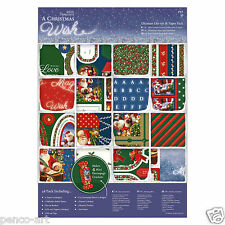 Papermania Ultimate A4 paper 48 sheet part die cut 160gm A Christmas Wish papers