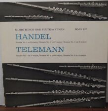 Music MInus one Flute or Violin Handel Telemann MMO107 33RPM  092416LLE #2