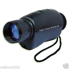 2X Night Vision Scope Monocular Infrared Night Vision Goggles w/ Assist IR Light