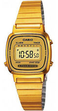 Casio LA670WGA-9 Women's Metal Band Vintage Gold Tone Digital Watch