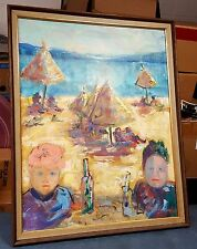 Vintage Signed Fauvist/Impressionist Oil Painting Landscape/Beach Scene 1960's?
