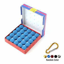 Box Of 50pcs Glue-on Pool Billiards Snooker Cue Tips 13mm + Y Hook