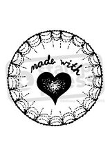 A7 'Made With Love' Unmounted Rubber Stamp (SP003666)