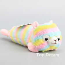 Alpacasso Rainbow Alpaca Pencil Case Plush Doll Stuffed Animal Toy 12'' Bag