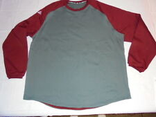adidas Climawarm 4XL Thermal Thick Shirt Sweatshirt Gray Maroon Big & Tall NWOT