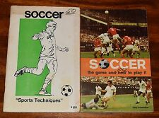 SOCCER THE GAME AND HOW TO PLAY IT & SOCCER SPORTS TECHNIQUES (2) SC BOOKS