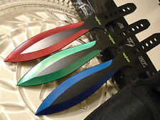 Perfect Point 3 Color Titanium Triple Throwing Knife/Knives Dagger Set Large 9""