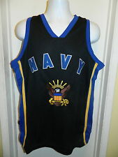 NAVY MIDSHIPMEN NAVAL ACADMEY COLLEGE BASKETBALL STITCHED STYLE JERSEY MENS M
