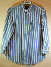 "Abercrombie & Fitch Denim Striped Shirt Sz Large ""Big Shirt"" Long Sleeves NWT"