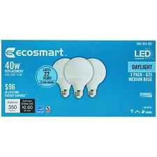 6 pack 5 watt = 40 W Daylight G25 Dimmable Frosted white LED Light Bulb