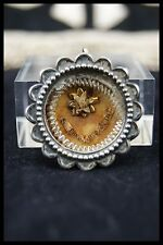 † 19th SAINT THERESE of LISIEUX STERLING RELIQUARY 1st CLASSTHECA RELIC WAX SEAL