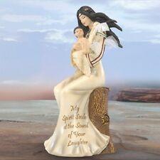 My Spirit Smiles At Sound Mother and Baby Native Figurine Bradford Exchange