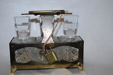 TILSON Japan Three SET Empty Perfume Bottles with Metal Caddy w/ Lock & Key