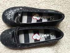 Sparkly black Sketchers shoes, Mary Jane, 6