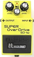Used Boss SD-1W Waza Craft Super OverDrive Guitar Effects Pedal!