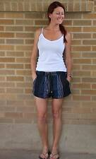 NWT~Cope Striped Shorts~Urban Outfitters~Cotton~Blue~XS~$79 *SOLD OUT ONLINE*