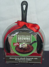 CHOCOLATEY CHUNK BROWNIE MIX WITH A CAST IRON SKILLET BRAND NEW UNOPENED
