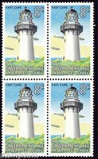 NEW ZEALAND 1969-1976 8c Lighthouse East Cape Block4 MNH @S4223