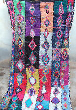 VINTAGE Marocchino boucherouite Rag Tappeto 288 x 147cm