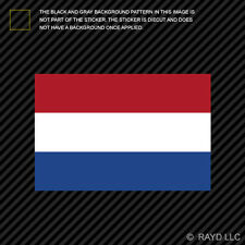 "4"" Dutch Flag Sticker Decal Self Adhesive Vinyl Netherlands"