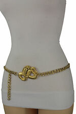 Women High Waist Hip Gold Plus Size Fashion Belt Metal Chain Cobra Snake M L XL