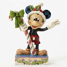 "6.25"" Christmas Mickey Mouse Figurine Figure Disney Disneyland Statue Holidays"