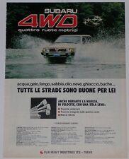 Advert Pubblicità 1981 SUBARU LEONE SW