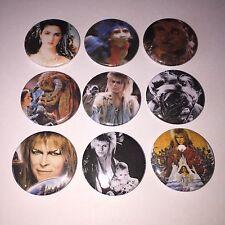 9 Labrinth button badges Cult 80's David Bowie Jareth Sarah Hoggle Movie
