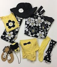 Gymboree EUC 9-10 Bee Chic Hat Dress Top Shorts Sandlas Jacket Purse Sock 9 Lot