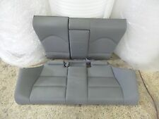 01-06 BMW E46 M3 Coupe Set of Rear Seat Back & Bottom Grey Leather OEM 2927