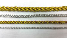 METALLIC CORD ROPE, SILVER/GOLD PIPPING STRING