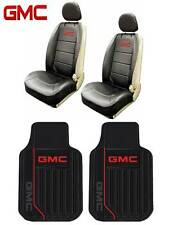 6 PC GMC Elite Seat Covers Leather & Front Rubber Floor Mats Free Fast Shipping