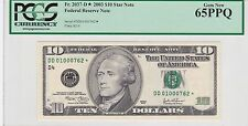 Star 2003 $10 Federal Reserve Note PCGS 65 PPQ Gem New FRN Crisp Uncirculated