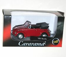 Cararama - VW Volkswagen BEETLE Cabriolet (Red) Model Scale 1:43