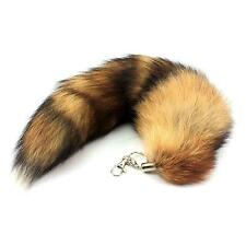 Chic Faux Fox Tail Key Ring Women Bag Handbag Purse Decor Pendant Keychain Gift