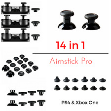 Ps4 & xbox1 Controller thumbsticks 14in1 intercambiables aimsticks en elevaciones plateada