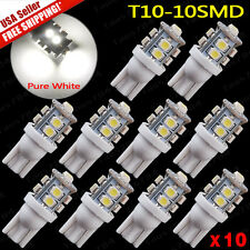 10x Super White T10 /921/912 License Plate Tag & Interior 10-LED SMD Light Bulbs