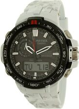 Casio Men's Pro Trek PRW6000SC-7 White Resin Quartz Watch