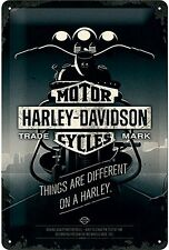 Harley Davidson Things Are Different.. embossed metal sign 300mm x 200mm  (na)